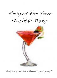 Recipes for your Mocktail party